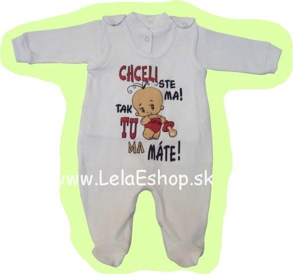 bdeeba251 Kojenecká súprava do pôrodnice dupačky košieľka pre novorodencov CHCELI STE  MA