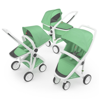 Kočík Greentom Carrycot + Reversible + Classic mint