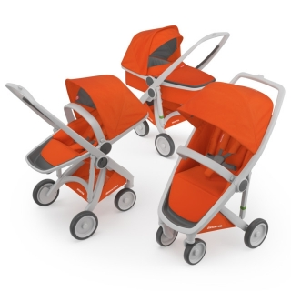 Kočík Greentom Carrycot + Reversible + Classic orange