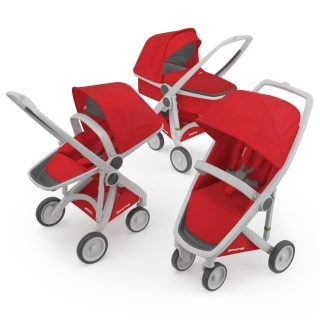 Kočík Greentom Carrycot + Reversible + Classic red
