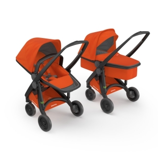 Kočík Greentom Carrycot + Reversible orange