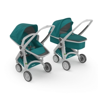 Kočík Greentom Carrycot + Reversible teal