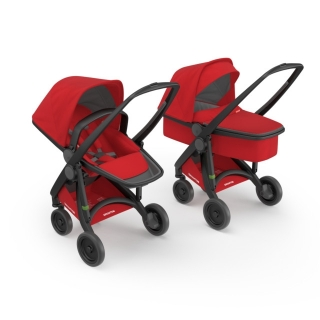 Kočík Greentom Carrycot + Reversible red